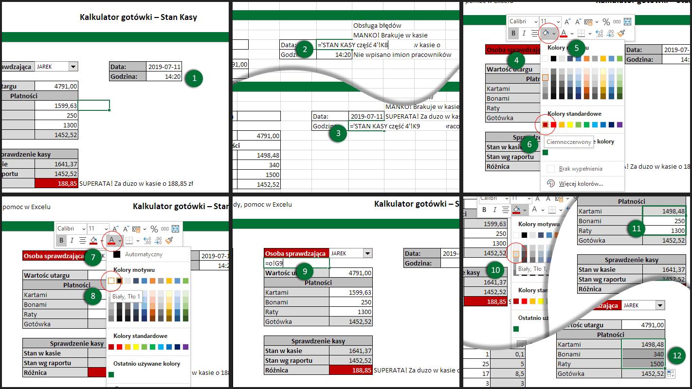 Warstwa prezentacyjna Excel - uzupełnienie funkcjonalności