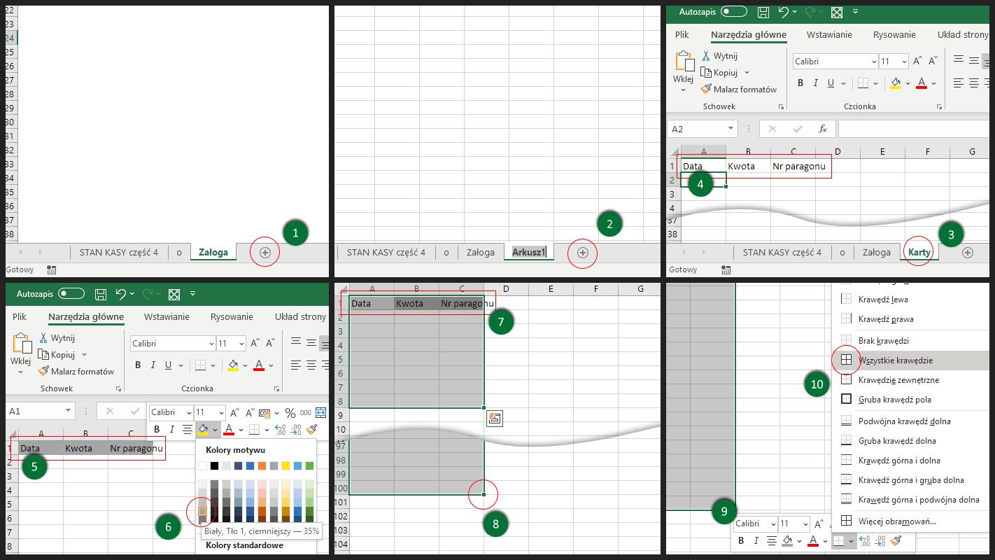 Excel - kopiowanie i arkuszy i zmiana ich nazw