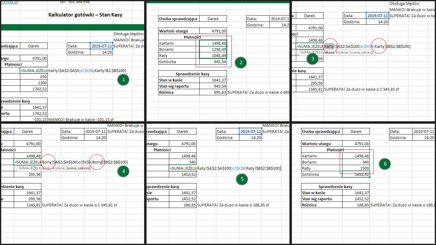 Excel funkcja SUMA JEŻELI