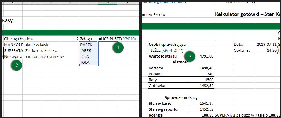 Obsługa błędów Excel