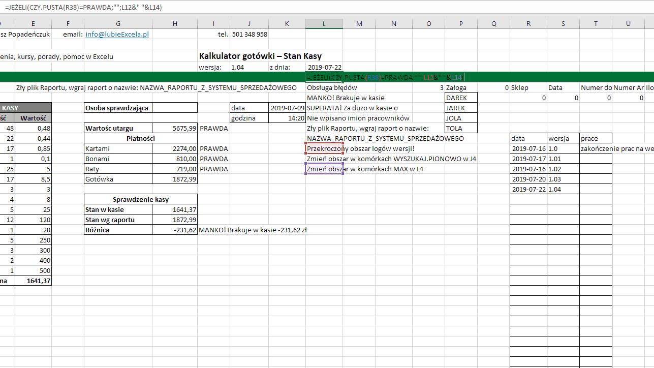 Excel - CZY PUSTA w obsłudze błędu