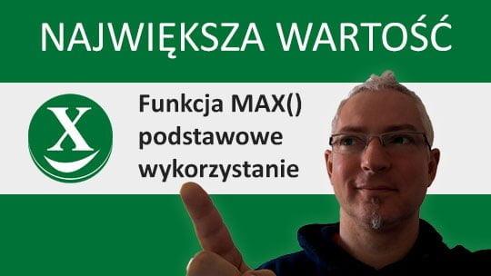Największa wartość - funkcja MAX
