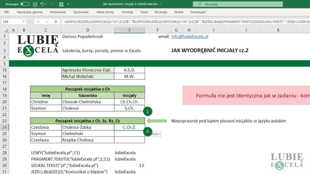 Kopiowanie komróki z formułą - Excel